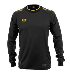 UMBRO UX-1 Trn Sweater jr Sort/Gul 152 Teknisk treningsgenser